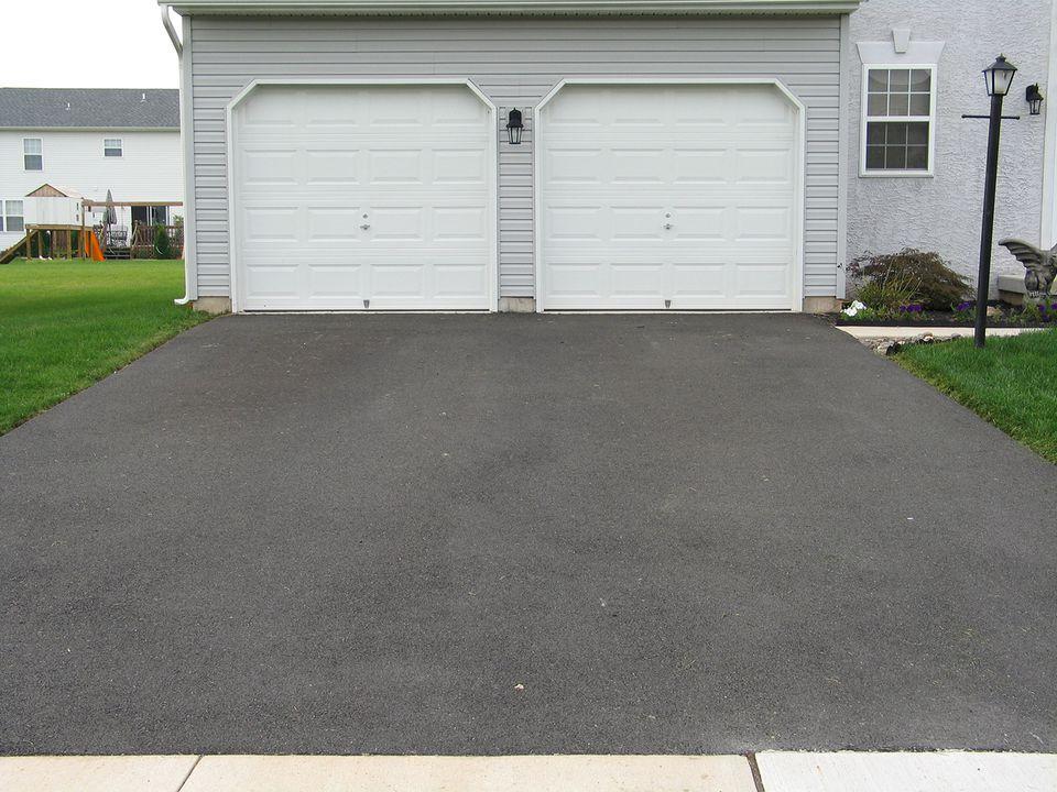 House two car driveway