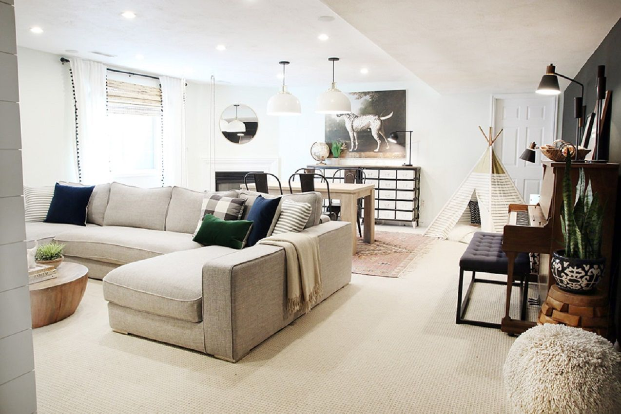 Basement Remodeled Into a Family Room