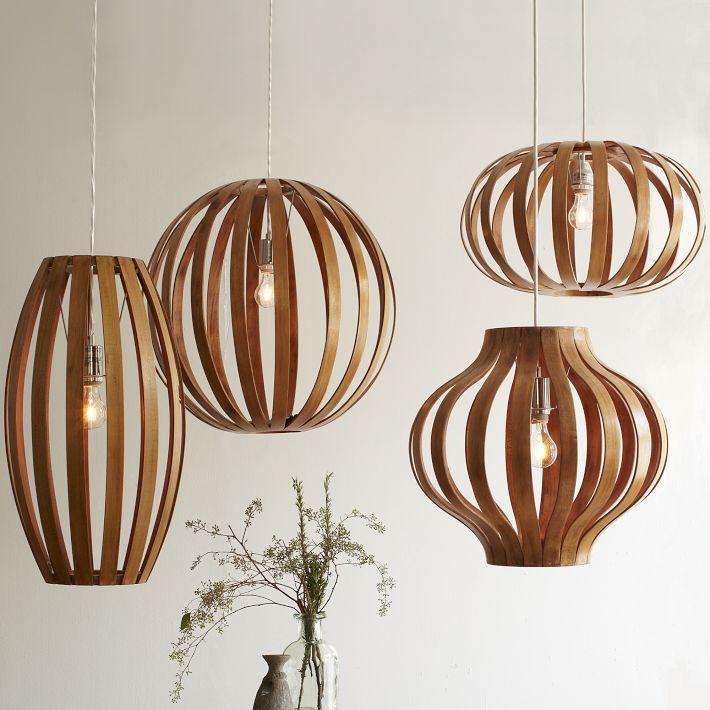 Colgantes de madera curvada