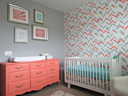 Gray Aqua And C Project Nursery