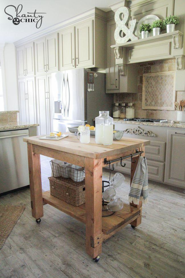 15 free diy kitchen island plans - Movable Kitchen Island