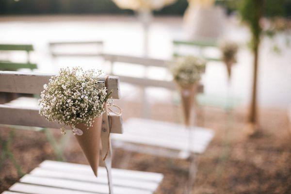 Flowers on wedding ceremony