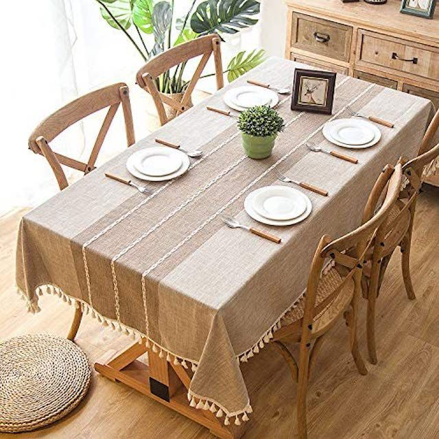 Joy Fabric Cotton Linen Tablecloth