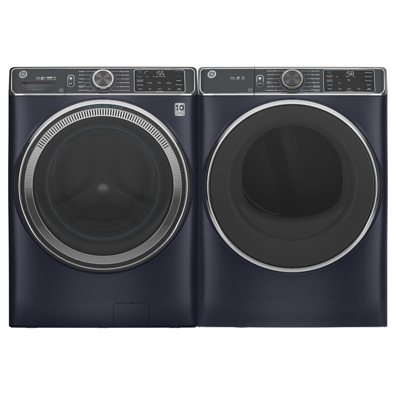 GE Appliances Smart 5 cu. ft. Front Load Washer and 7.8 cu. ft. Gas Dryer