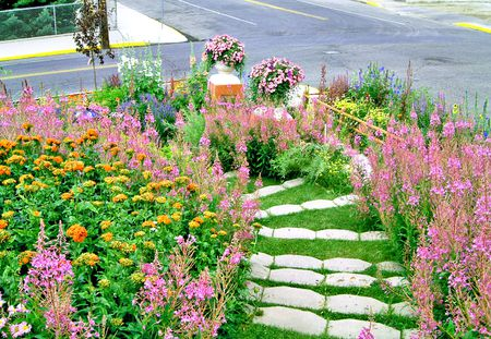 Turning A Hillside Into Garden Walk