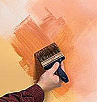 Old world fresco paint technique