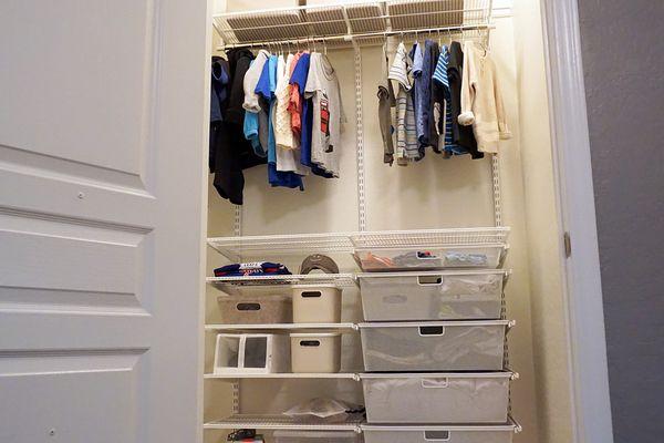 Elfa Classic 4' White Reach-In Clothes Closet