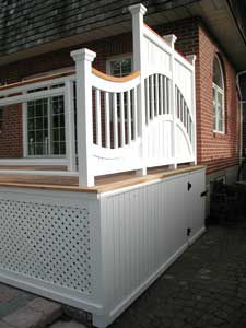 Picture of a stylish deck.