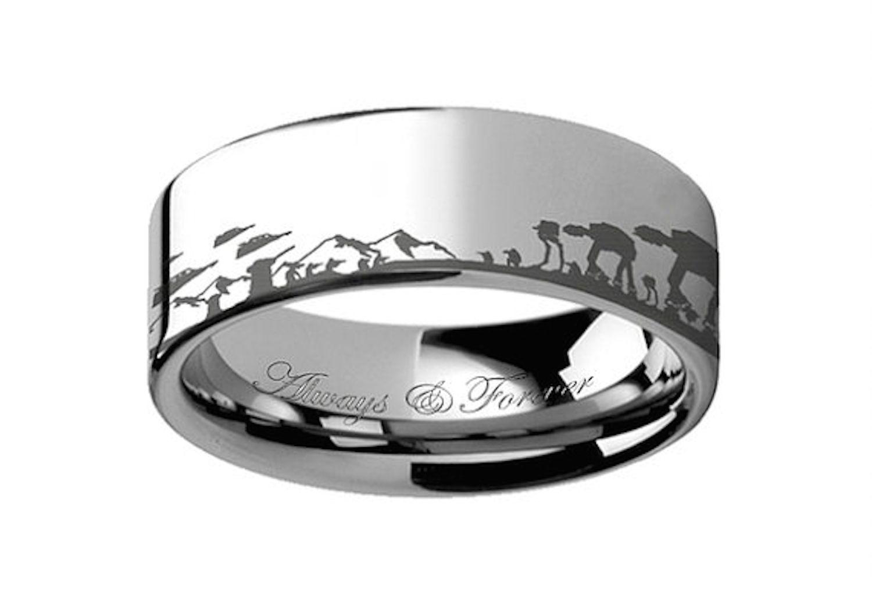 Anillo de bodas de hombre de tungsteno Ring Paradise