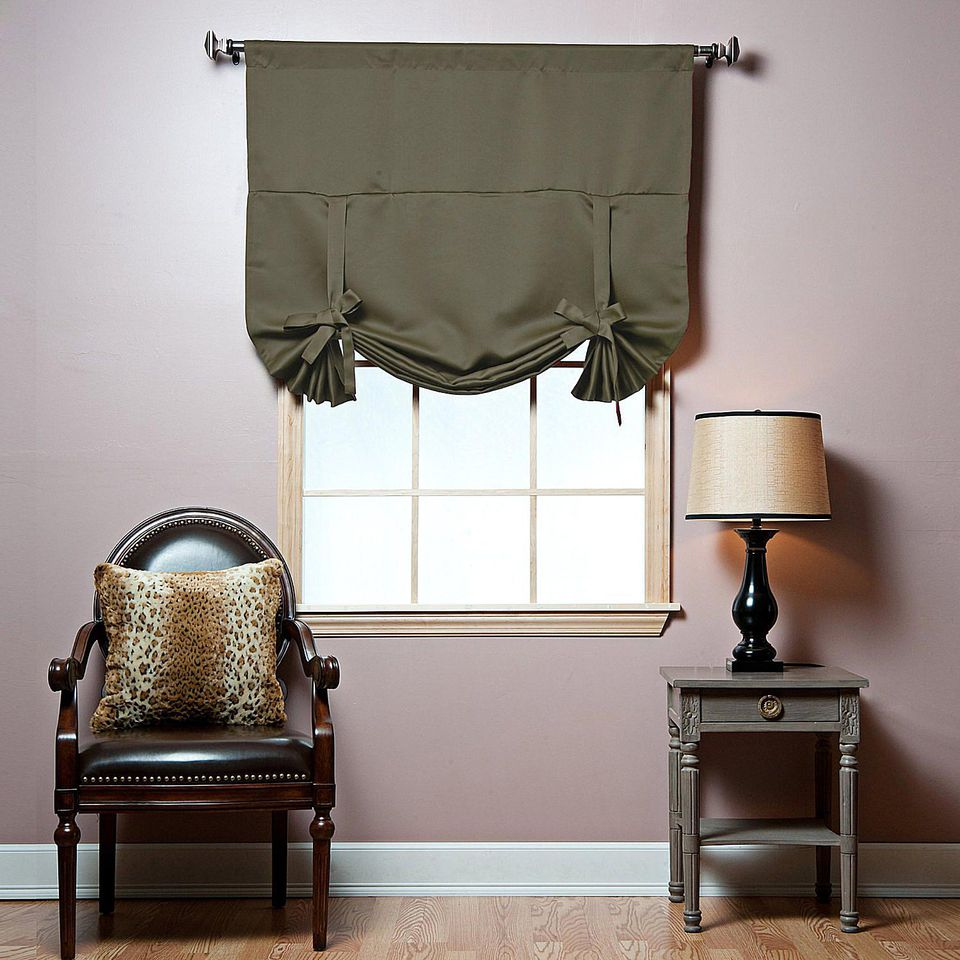 Adjust the tie-up window blind any way you like it.