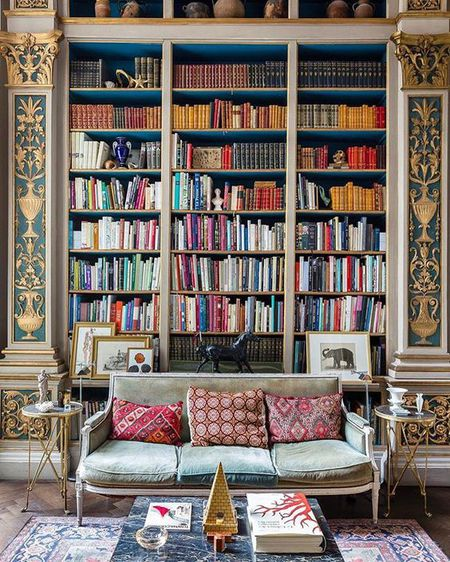 Gilded Details In A Library Home With Clic Architecture