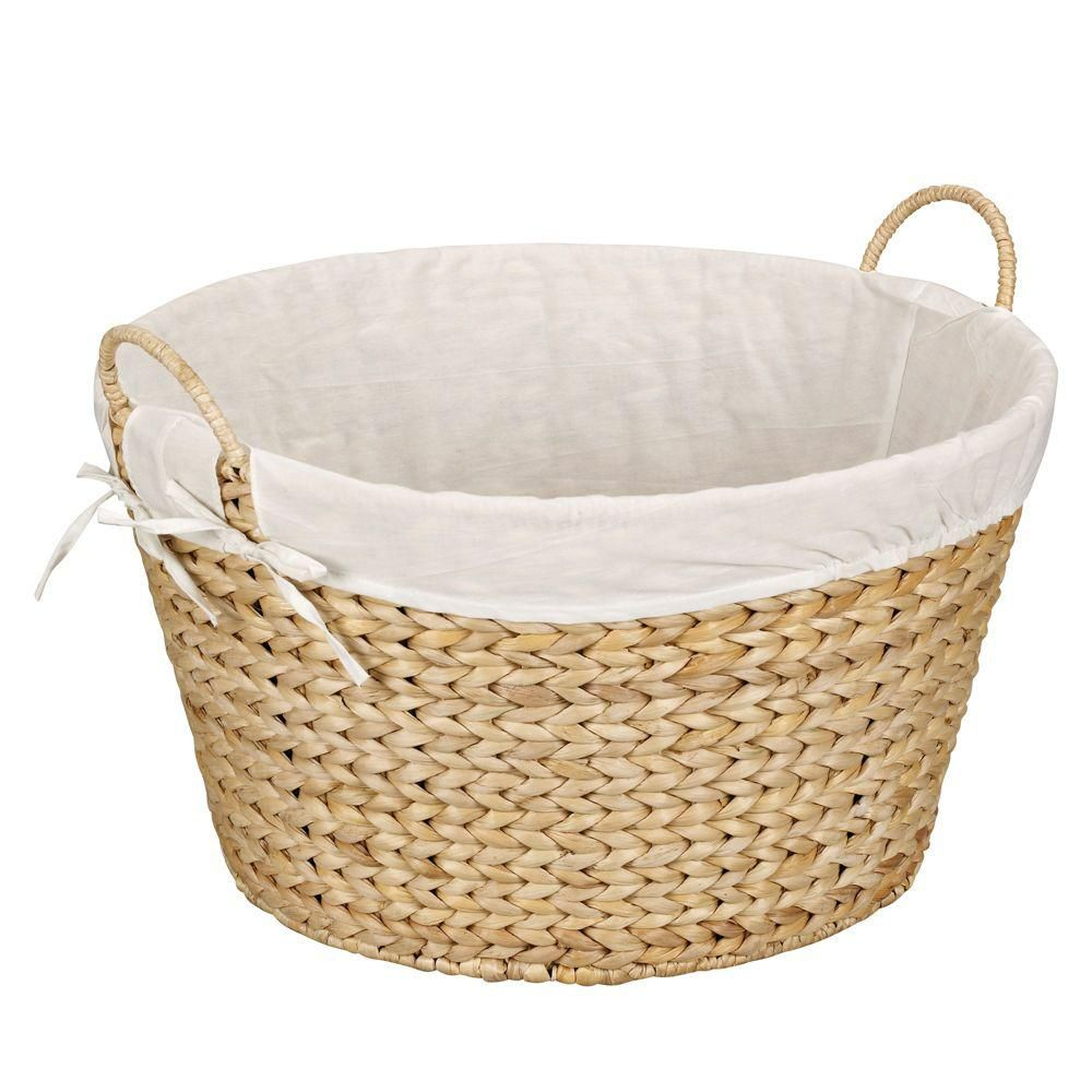 Best woven household essentials round banana leaf laundry basket