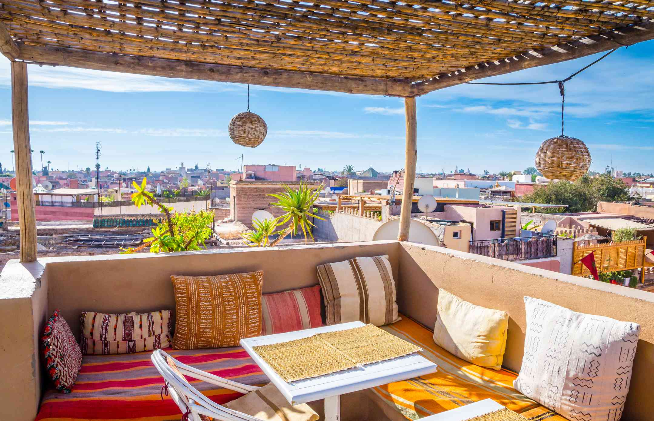 Outdoor living room in Morocco
