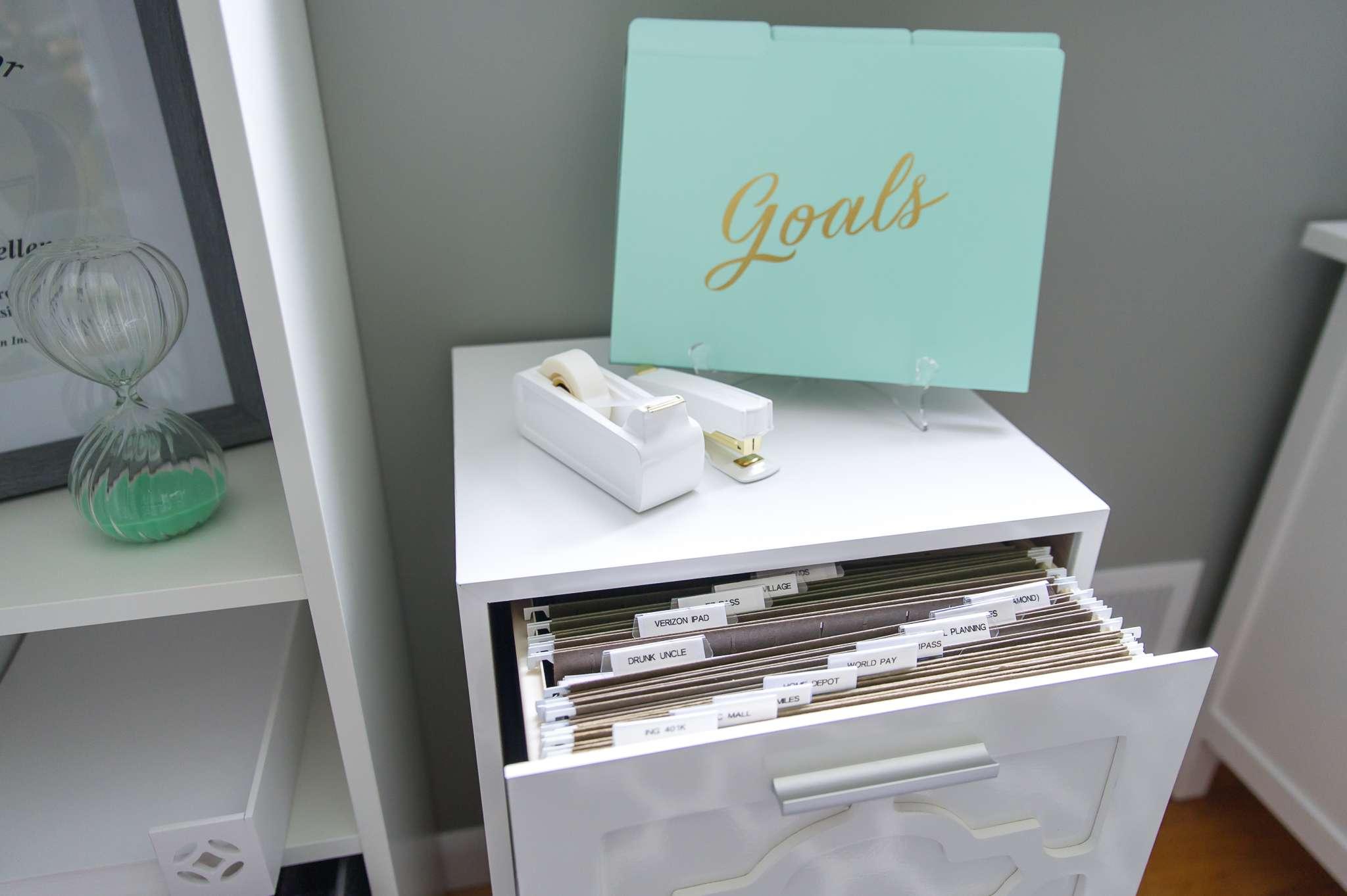 Papeles organizados en un sistema de archivo