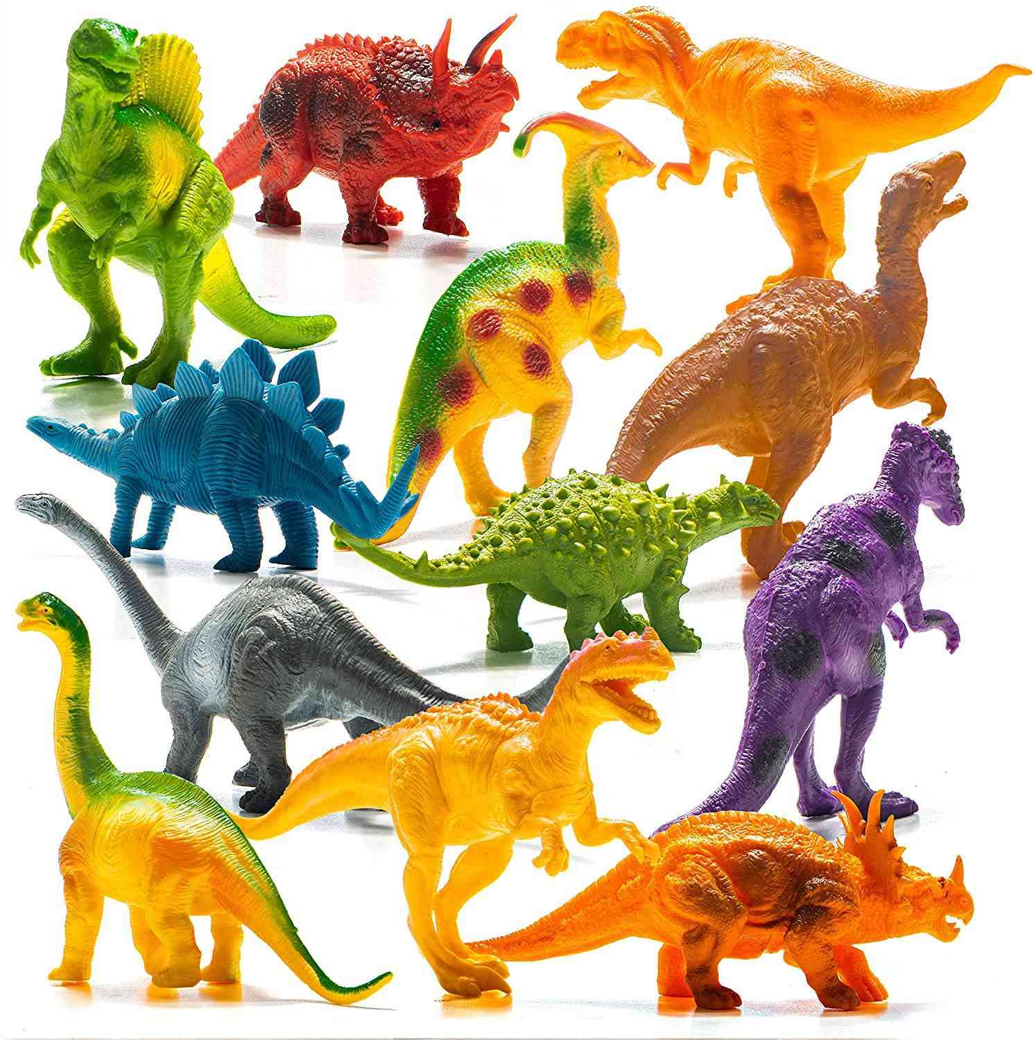 Prextex Realistic Looking 7-inch Dinosaurs Pack