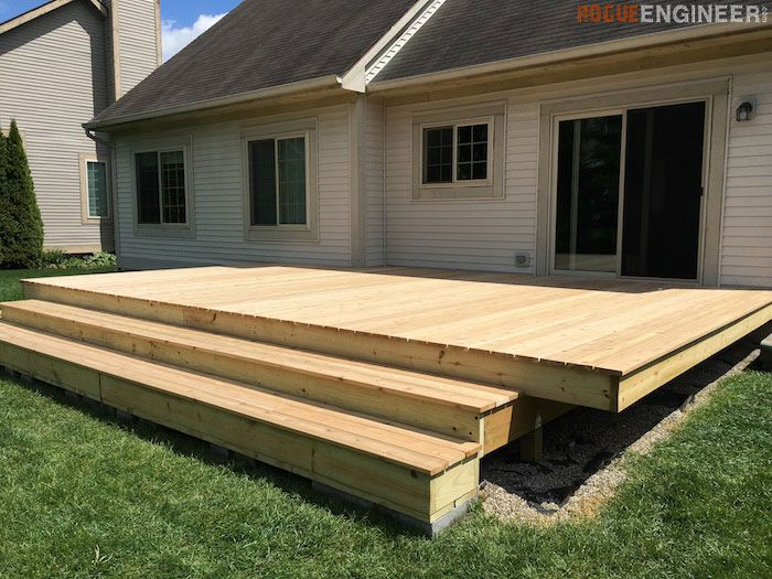 A Floating Deck Built Off Backdoor