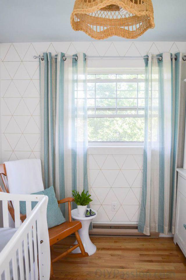 Geometric triangle Sharpie accent wall