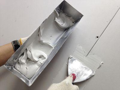 POV - Drywaller at Work