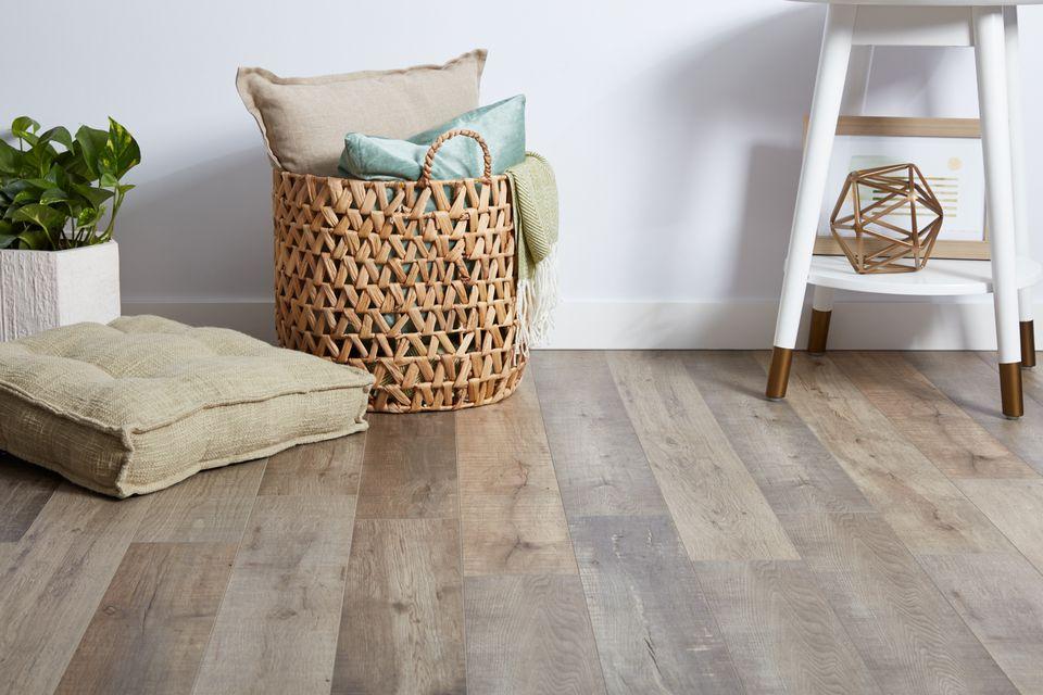 laminate flooring in a living room area
