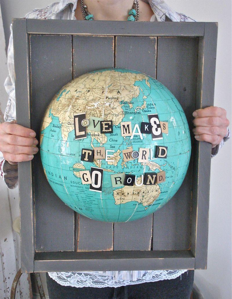 arte de pared de globo