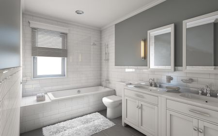 . 17 Classic Gray and White Bathrooms