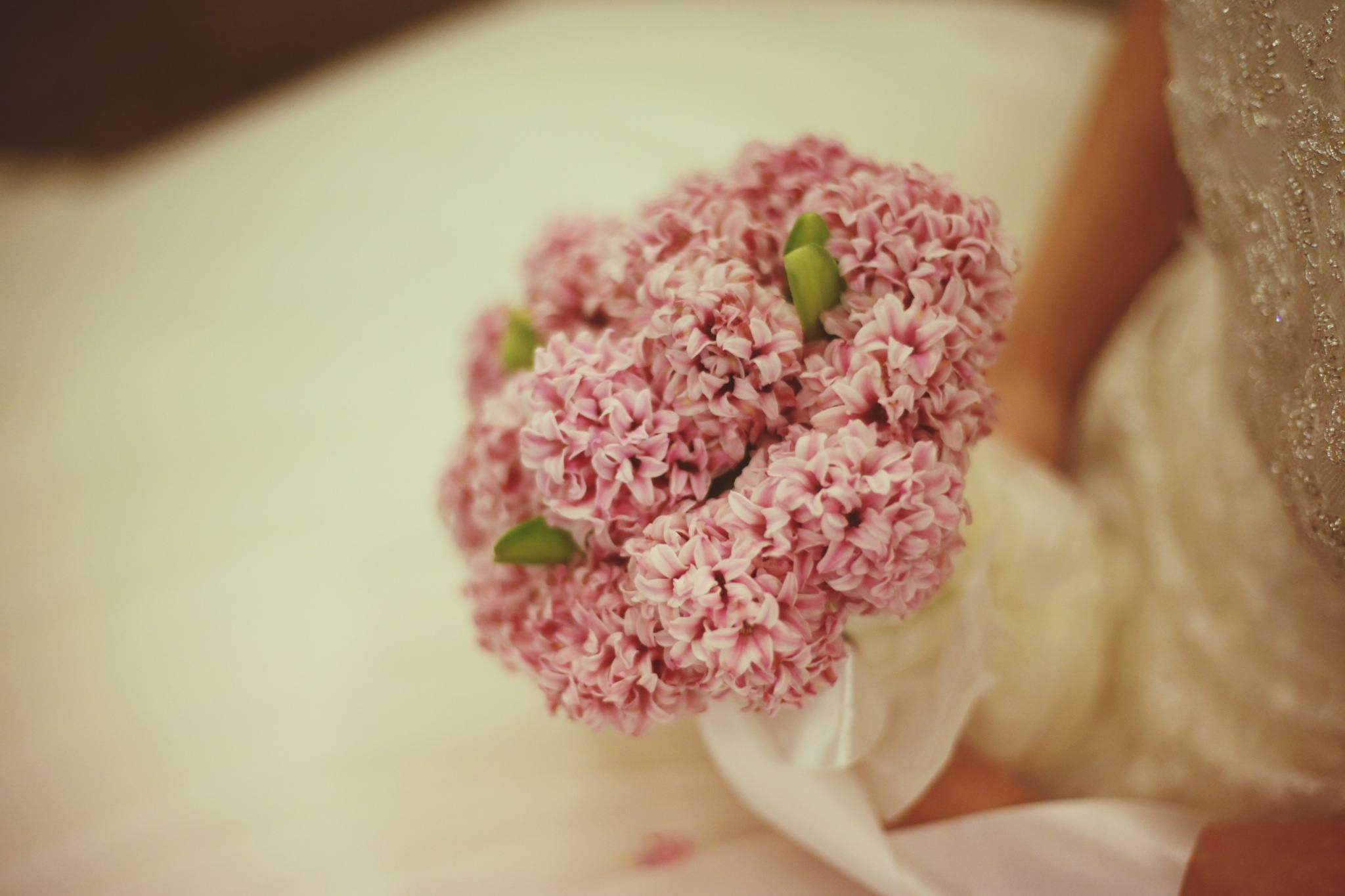 Pink Hyacinth Bridal Bouquet