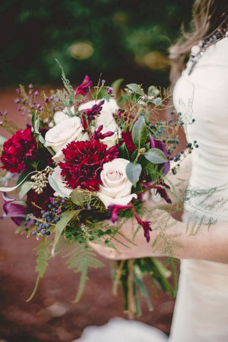 Carnation Winter Wedding Bouquet