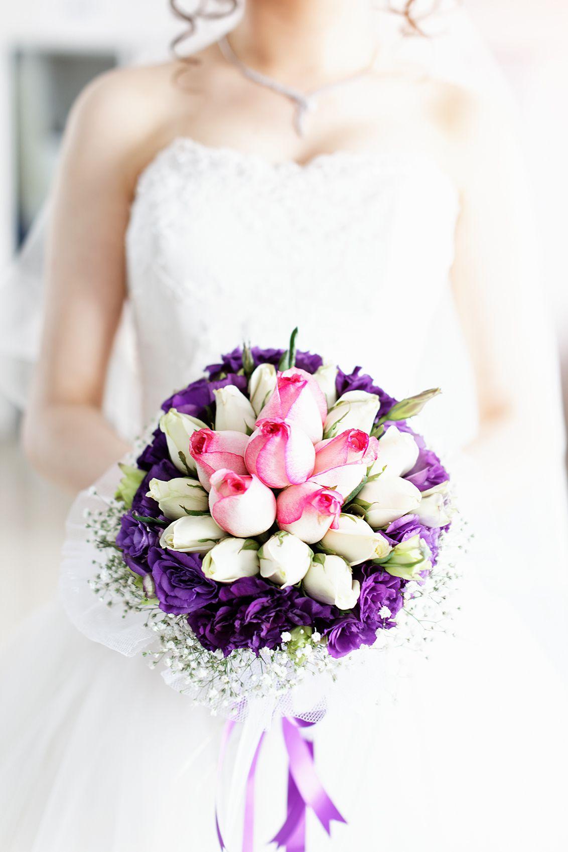 Spring purple bridal bouquet izmirmasajfo