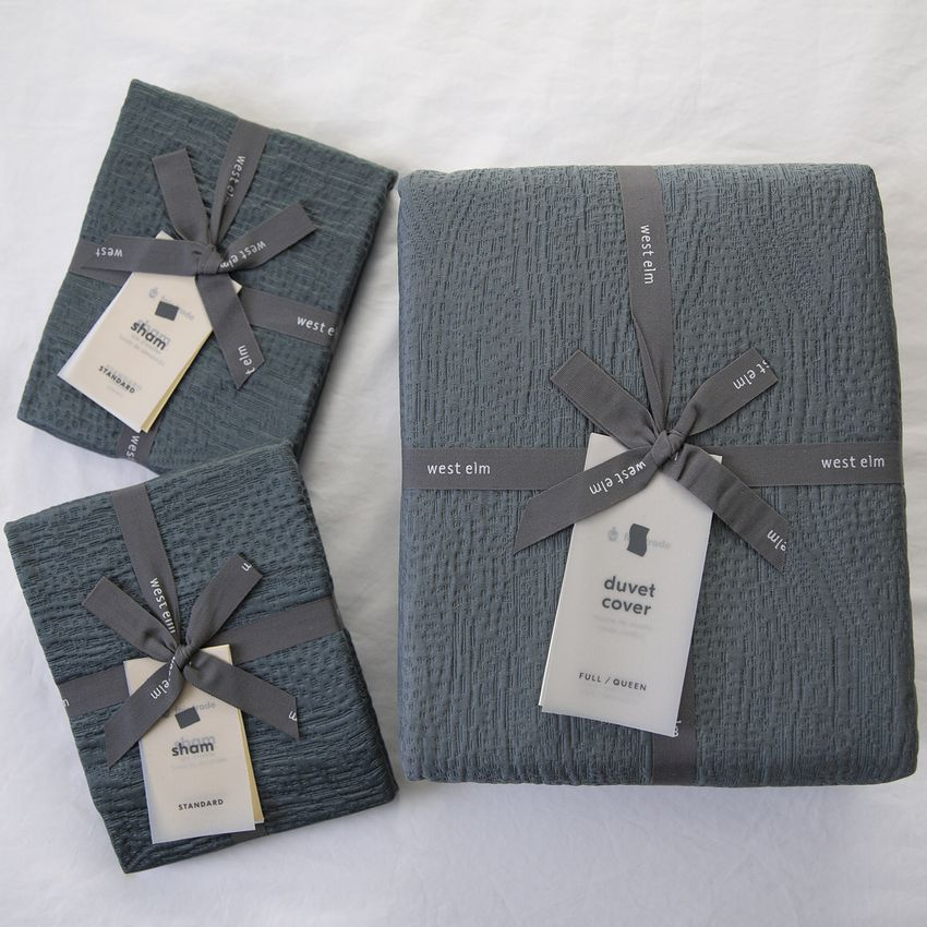West Elm TENCEL™ & Cotton Matelasse Duvet Cover & Shams