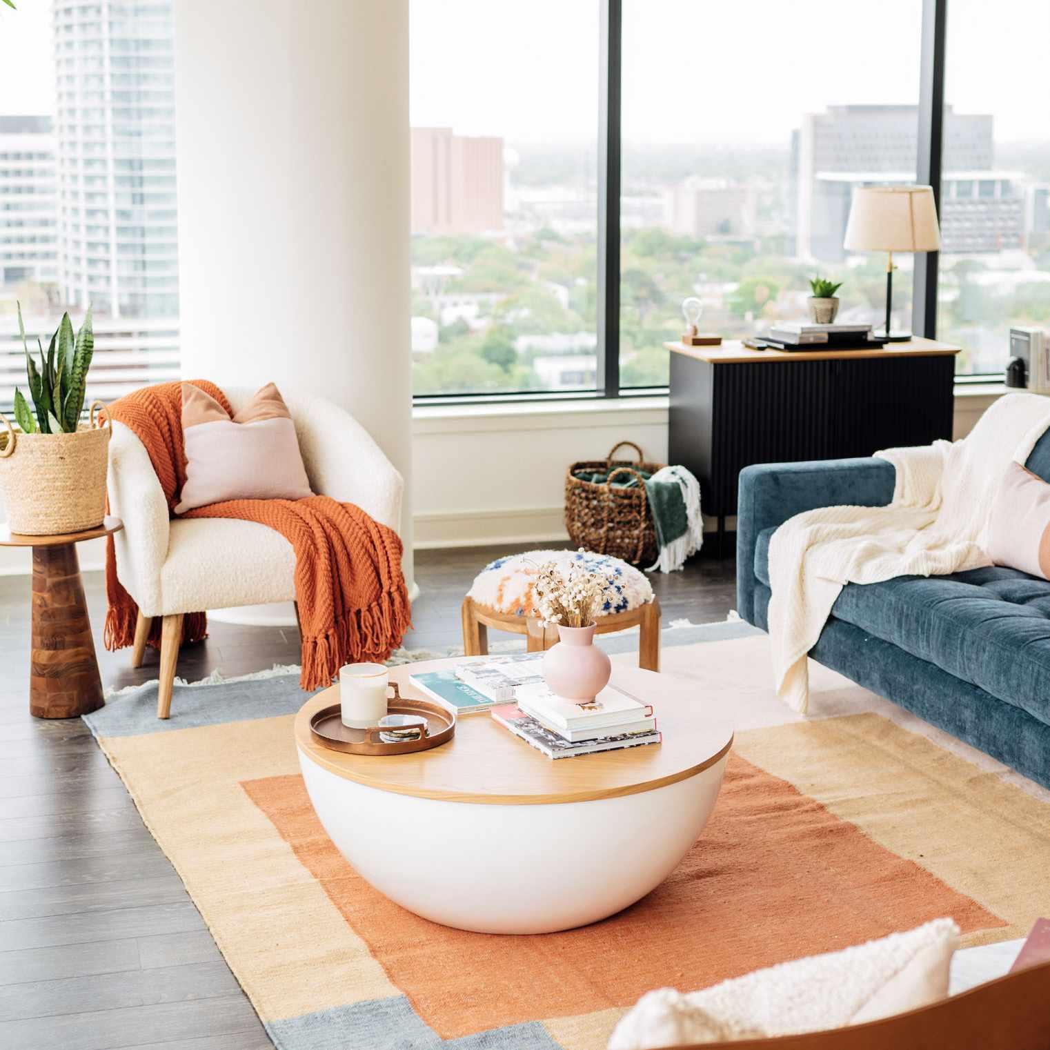 Deepica Mutyala's Houston living room
