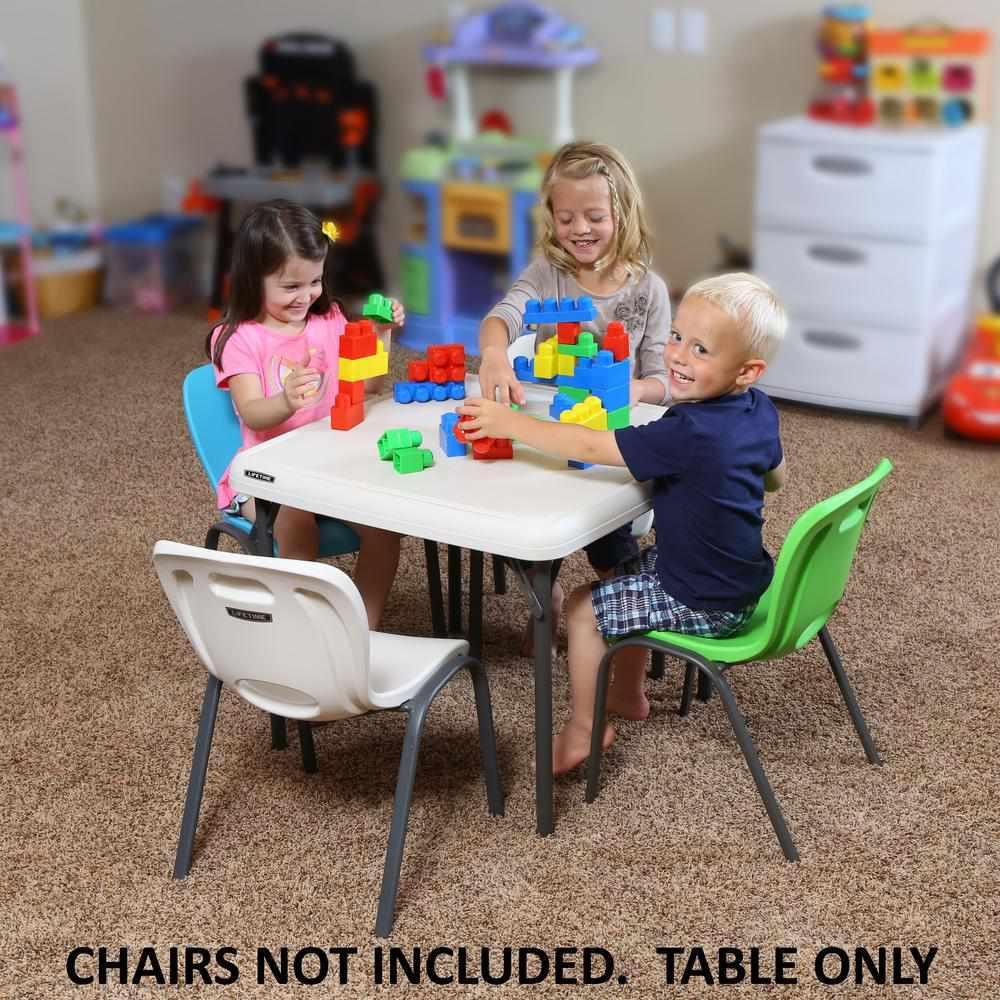 Lifetime Children's 24 in. W Square Almond Folding Table
