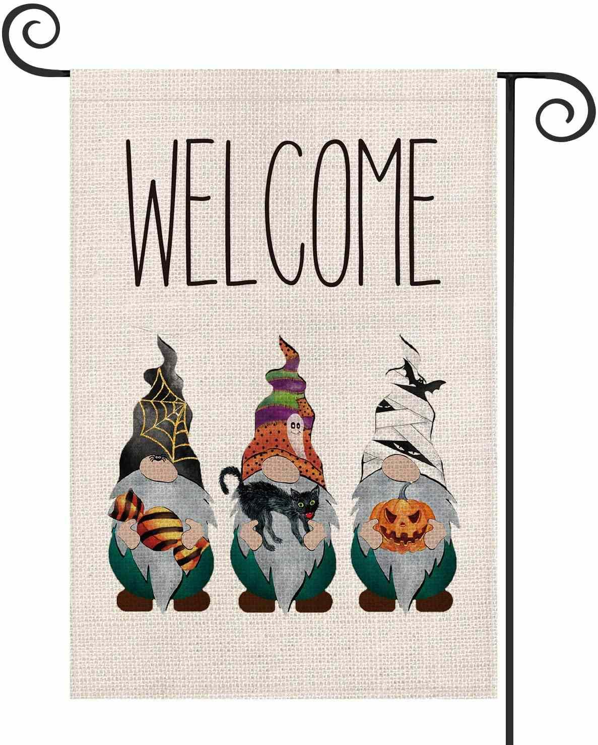 AVOIN Halloween Welcome Gnomes Bat Spider Web Jack