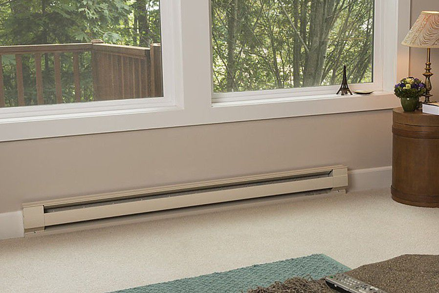How To Install A Volt Electric Baseboard Heater - Under floorboard heating