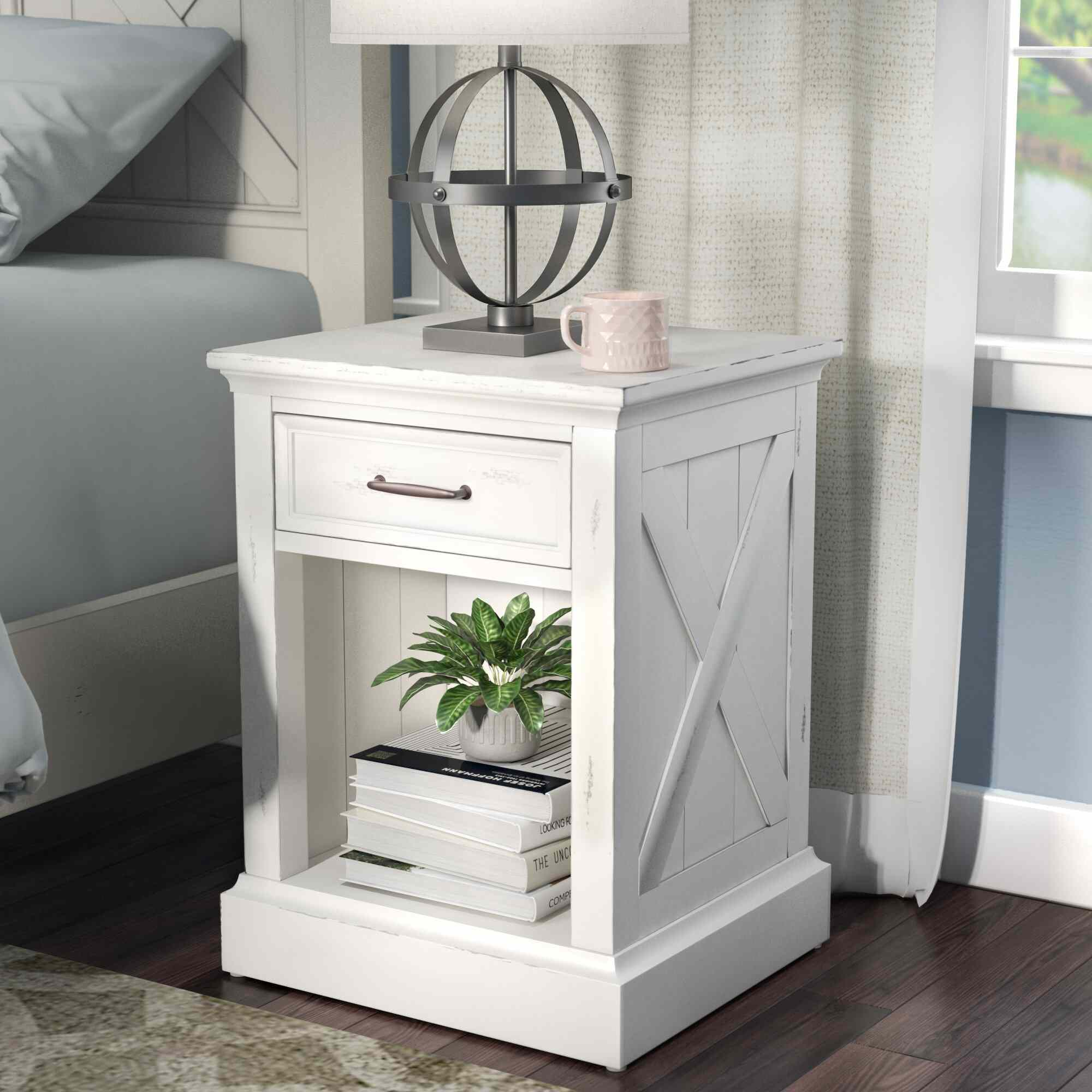 Sand & Stable Lana 1 - Drawer Nightstand in Off White