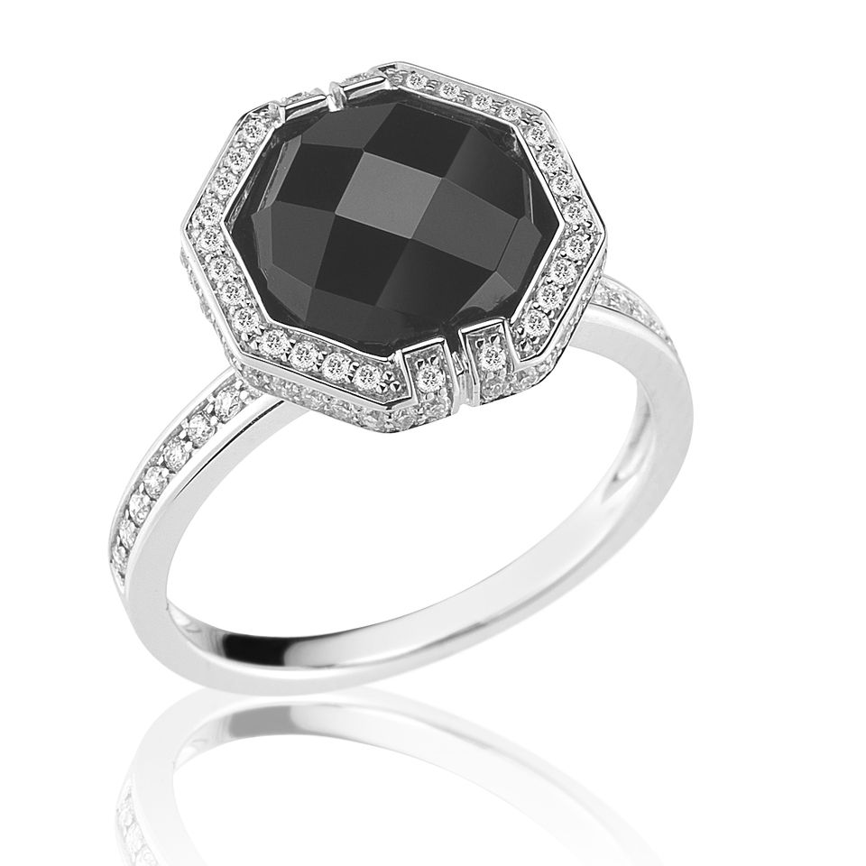 Ivanka Trump Black Diamond Engagement Ring