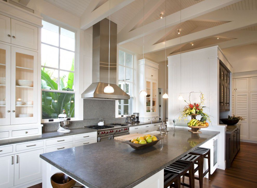 dark limestone countertops