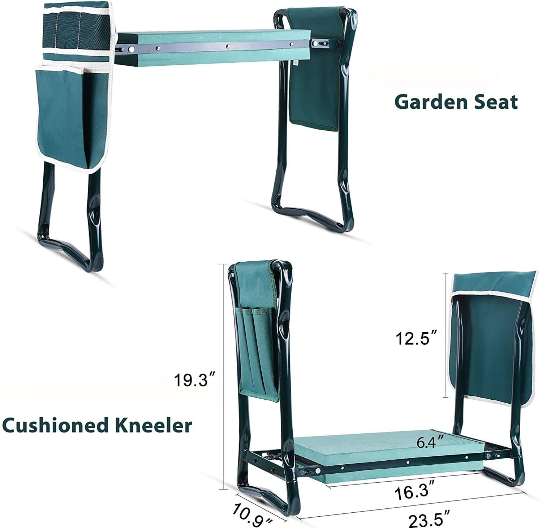 Ohuhu Kneeler and Seat with 2 Bonus Tool Pouches