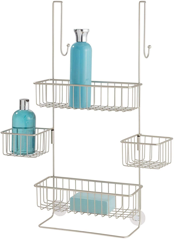 iDesign Metalo Over-the-Door Hanging Shower Organizer