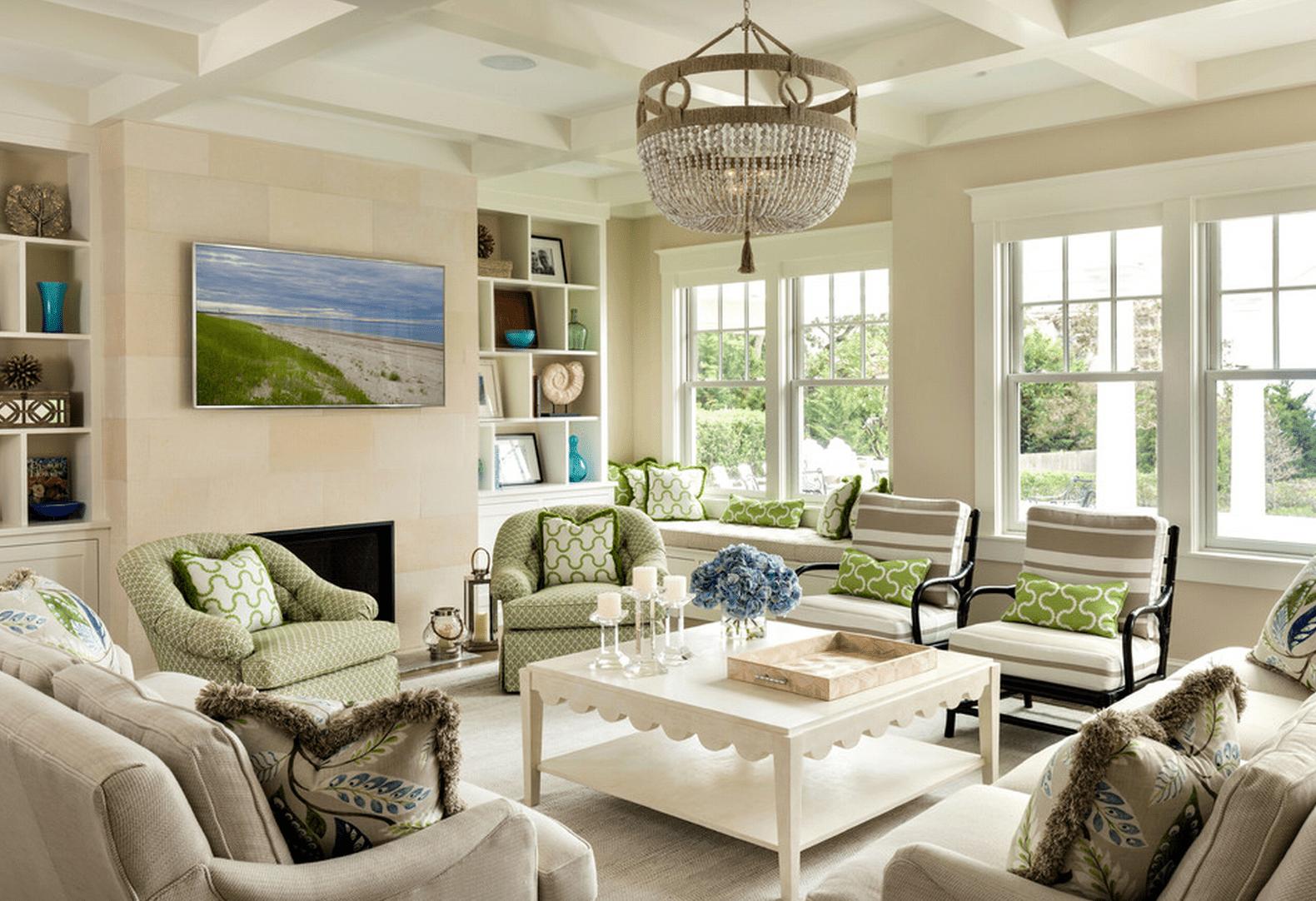 20 Beautiful Beach House Living Rooms