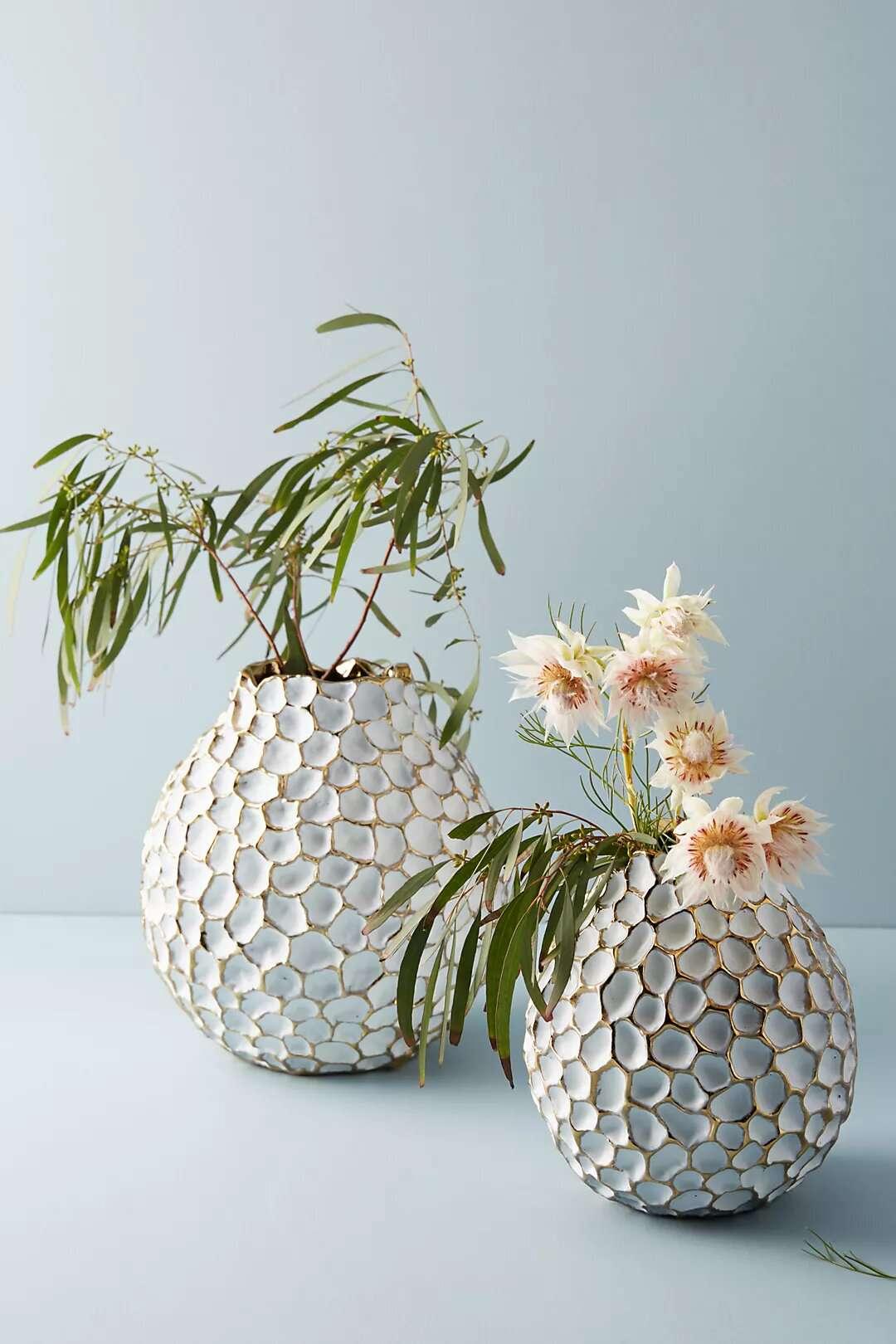Anthropologie Honeycomb Vase