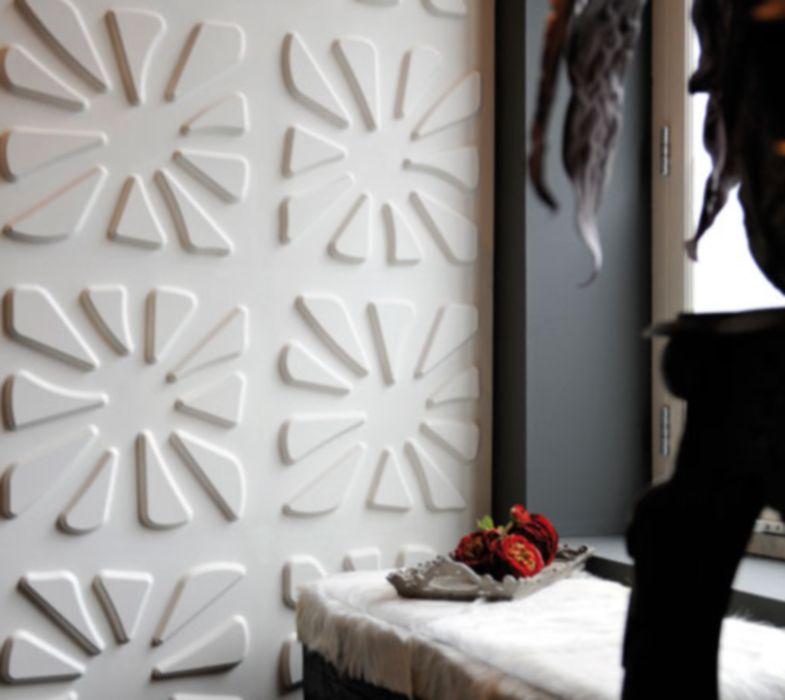Paneles de pared con textura de bagazo