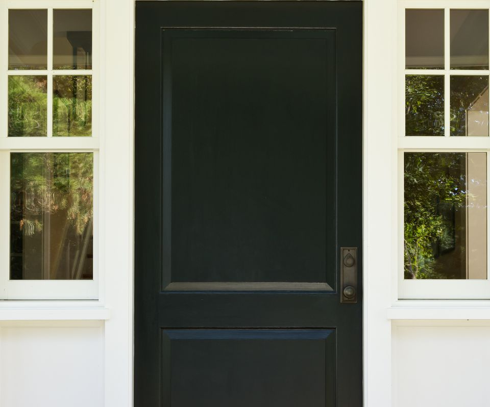 feng shui door black color north