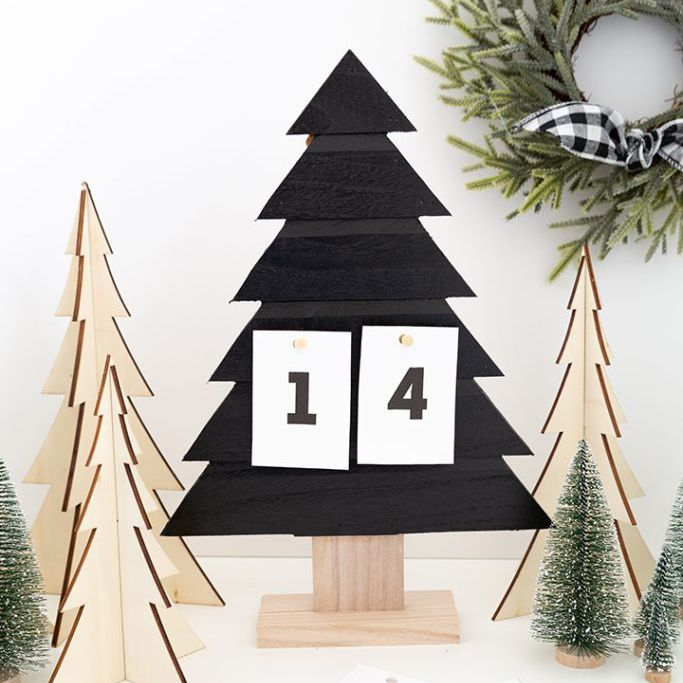 Chalkboard paint Christmas tree