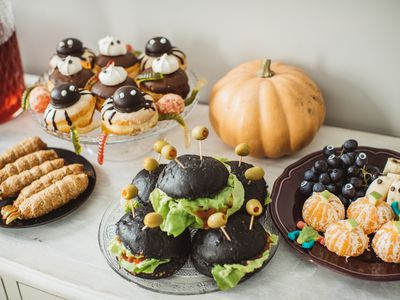 Halloween food table