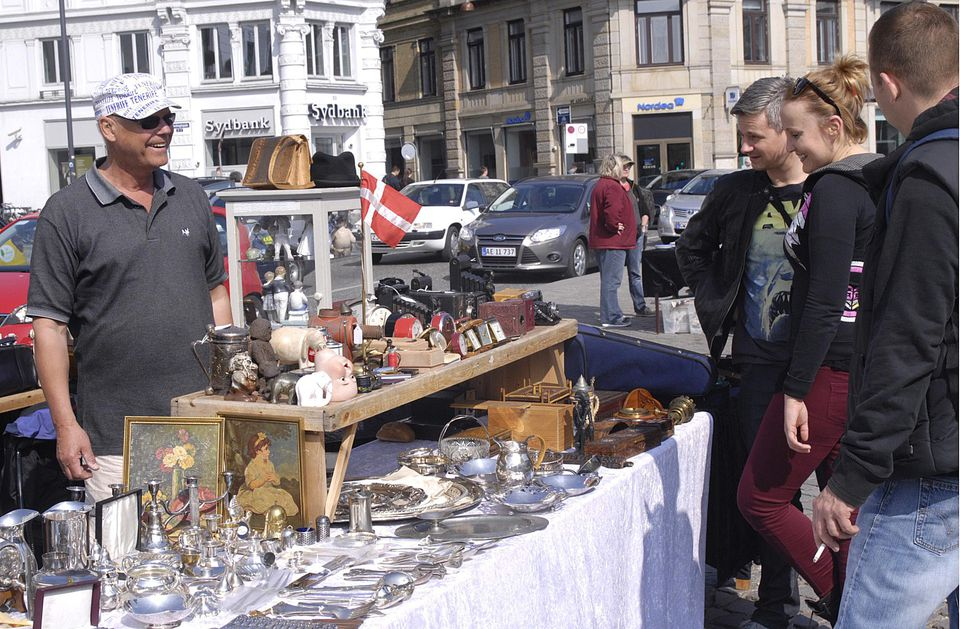Flea Market Shopping in Denmark