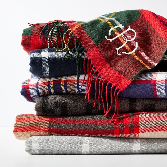 Plaid Throw Blankets