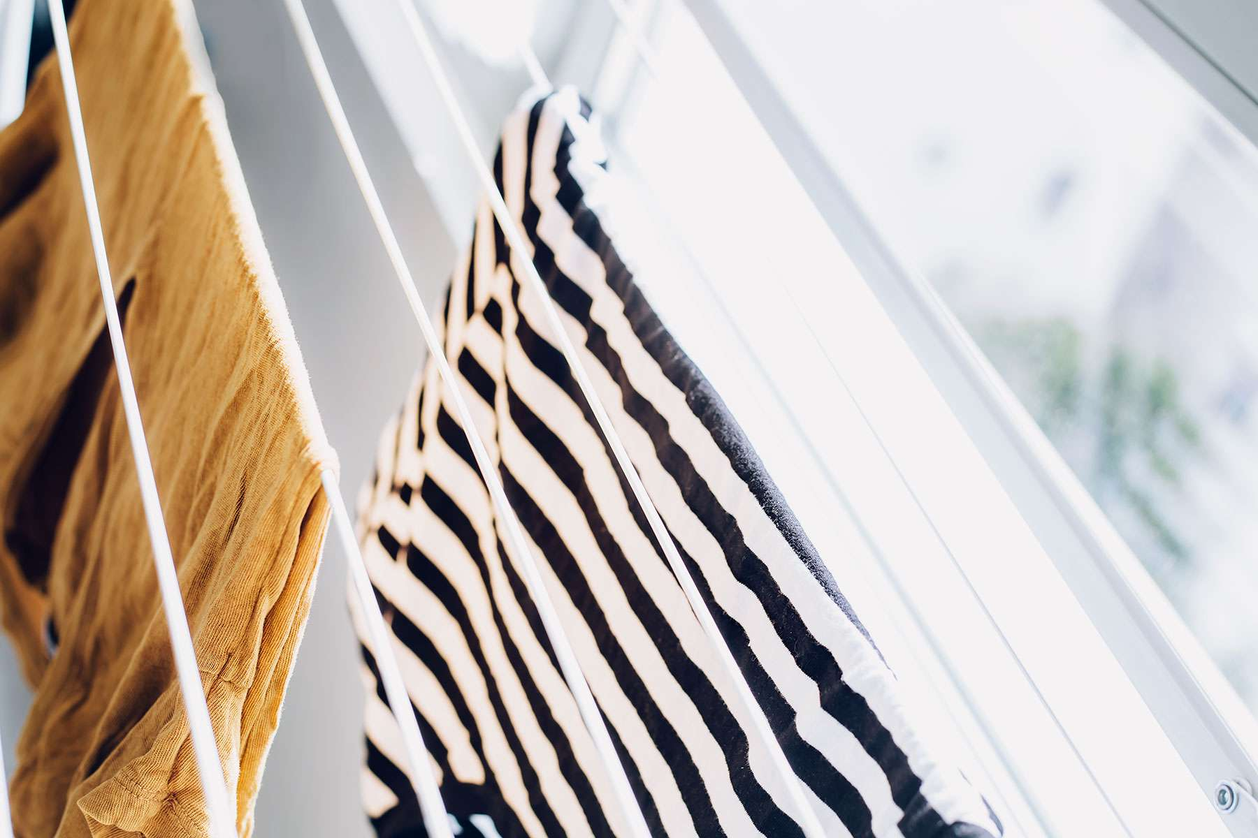 items drying on a rack