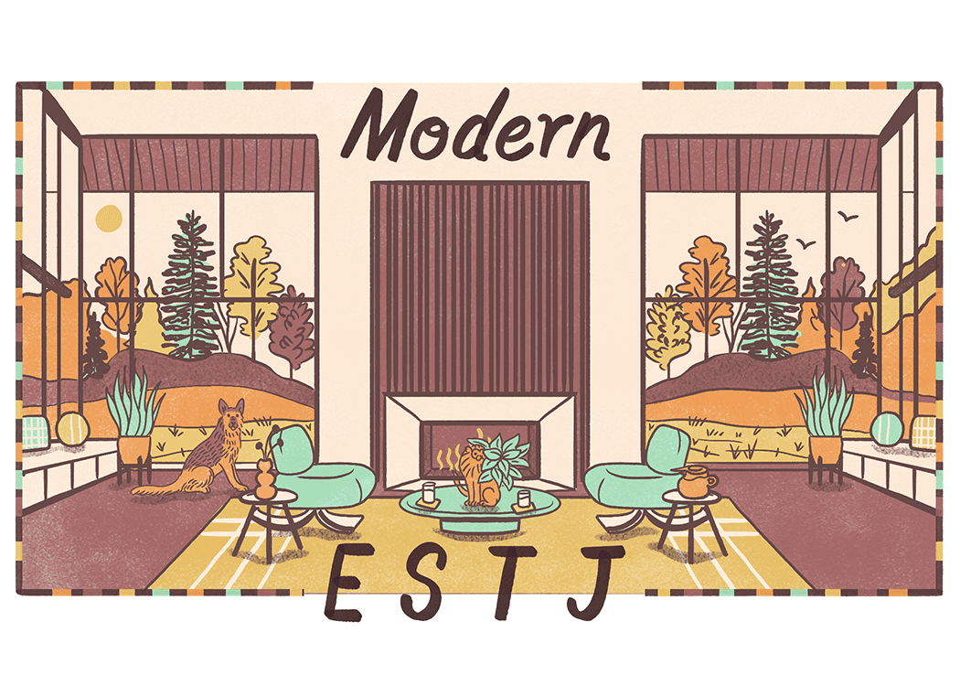An illustration of the ideal home for an ESTJ
