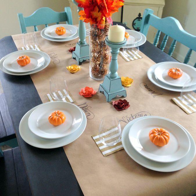 kid friendly thanksgiving table