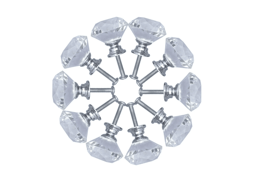 Diamond-shaped knobs laid out in a circle